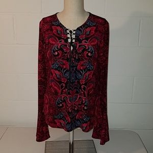 Venus black and red blouse large